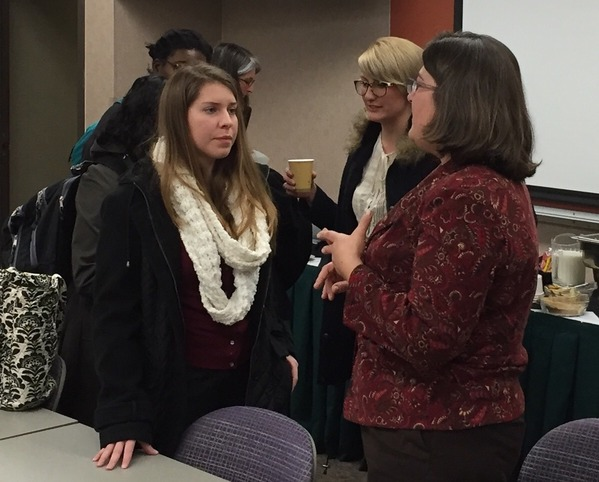Rep. Phillips talks with Athens Students