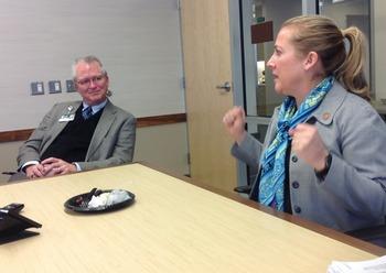 Rep. Bishoff and Dean Burke